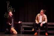 <p>Andrew Flynn as Benedick, Chris Cohorst as Claudio</p>