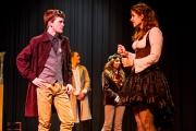 <p>Andrew Flynn as Benedick, Brenna Meek as Beatrice</p>