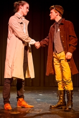 <p>Chris Cohorst as Claudio, Andrew Flynn as Benedick</p>