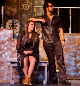 <p>Hannah Whitlock as Conrade, Jaiden Dosani as Borachio</p>