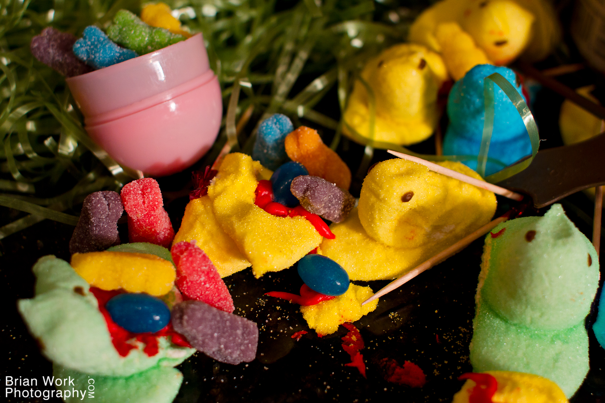 <h5>An explosion erupted amidst the Peeps' forces as an egg mine opened up, loosing rabid mutant mini bunnies on the unsuspecting Peeps.</h5>