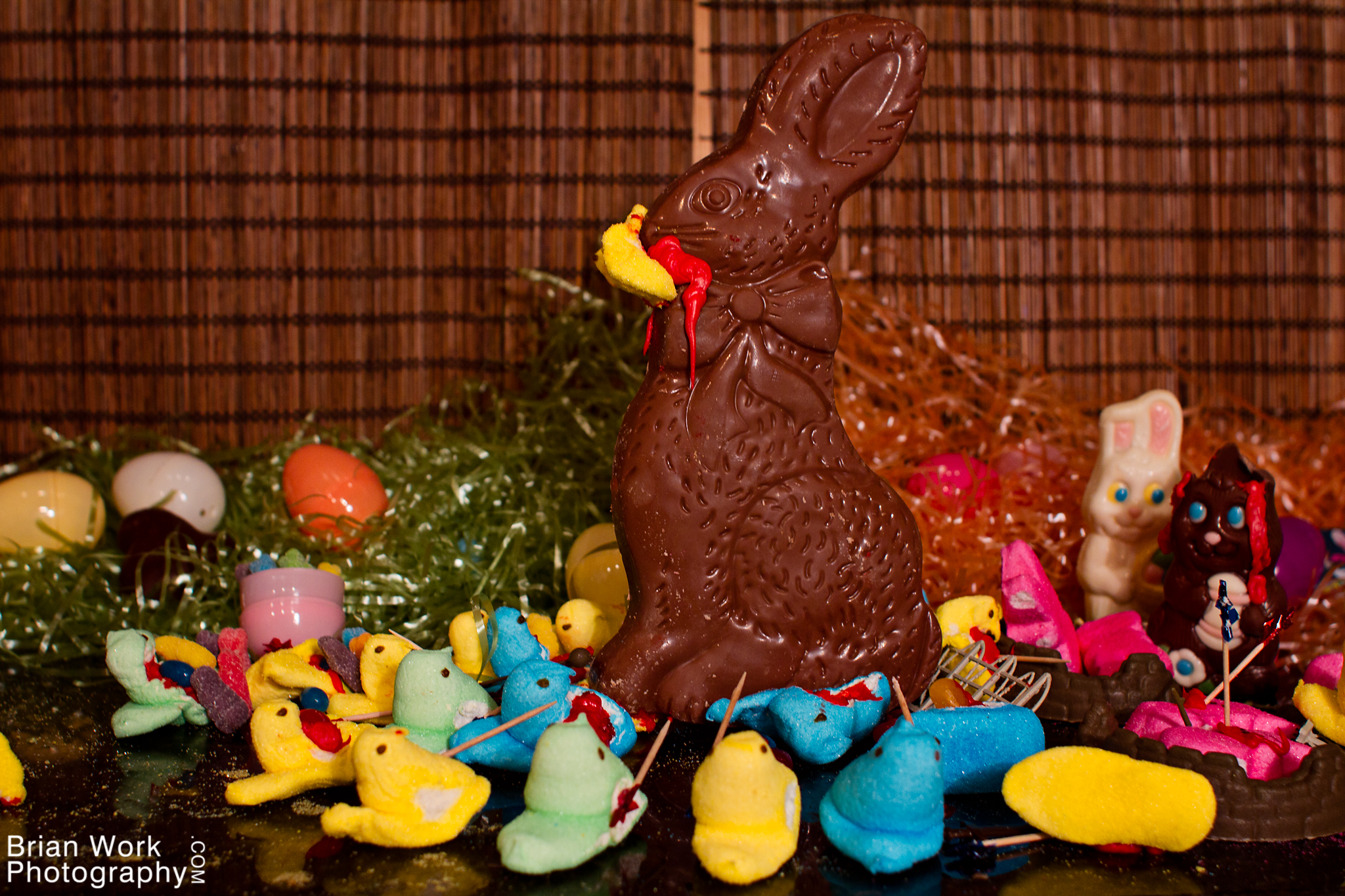 <h5>Back on the battlefield, Bunny Kong was running rampant, stampeding over Peeps and devouring them whole. The remaining chicks circled around him, waiting for their moment.</h5>