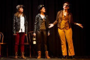 <p>Zoe Canfield as Verges, Ashlee Schroeder as Seacole, Emily McClure as Dogberry</p>