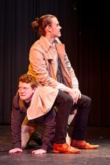 <p>Andrew Flynn as Benedick, Chris Cohorst as Claudio</p>